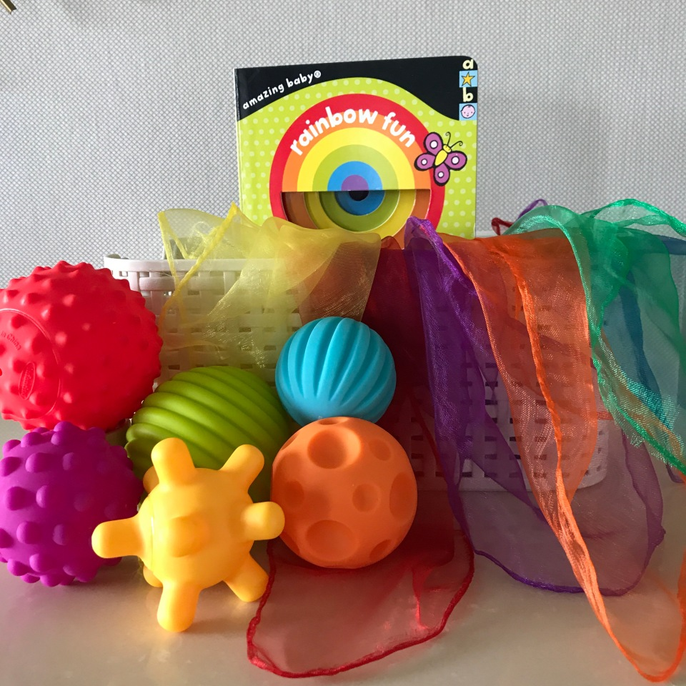 Treasure basket sensory play for babies