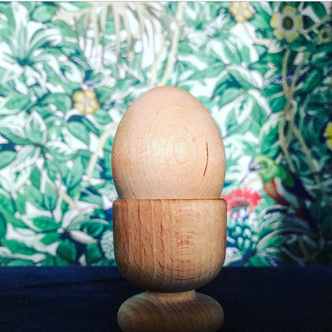 Montessori Wooden Egg and Cup