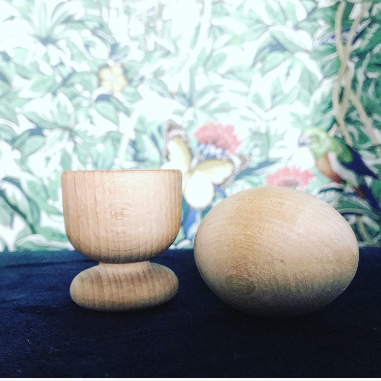 Montessori wooden egg and cup. Montessori Baby toys