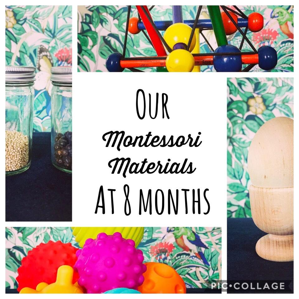 Montessori Work Shelves at 8 Months