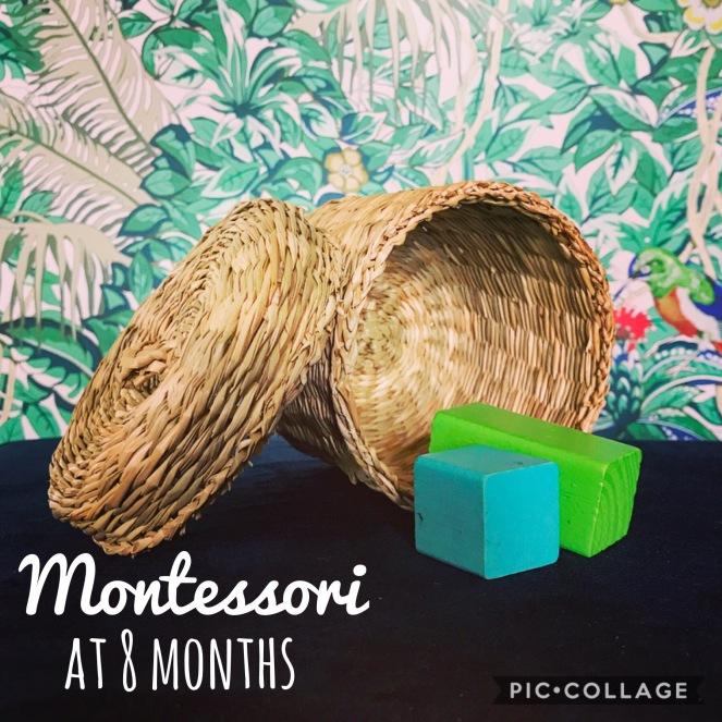 Montessori work Shelves at 8 months.