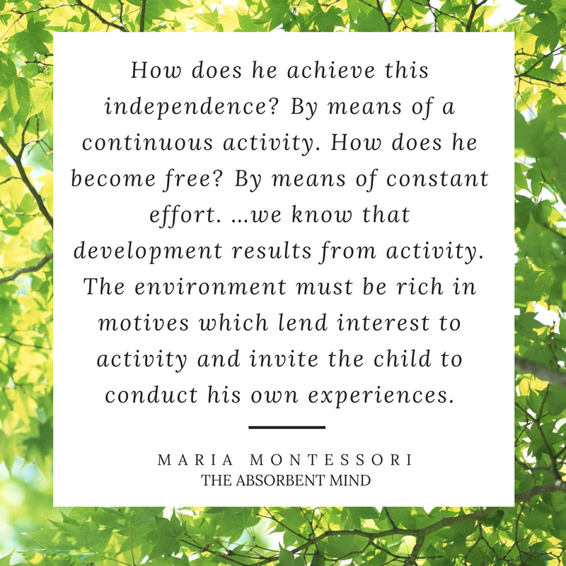 The Best Montessori Quotes for parents of children under 3. Essential reading in any Montessori home!